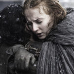 Jon and Sansa hug in The Book of the Stranger